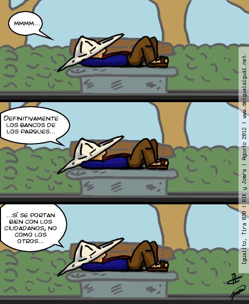 Igualito 030 – bancos y parques