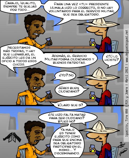 Igualito 060 – antimilitarismo